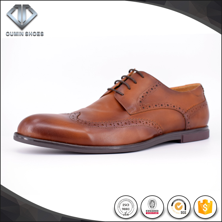 imported genuine leather casual shoes brand very soft men derby shoes