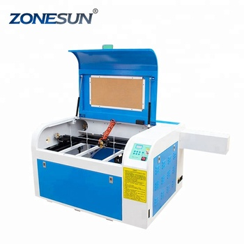 ZONESUN New 110/220V 60W 600*400mm Mini CO2 Laser Engraving Cutting Machine Laser with USB Sport