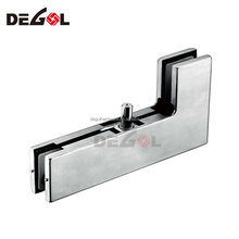 Hot sale stainless steel right angle glass patch fitting shower for frameless glass door