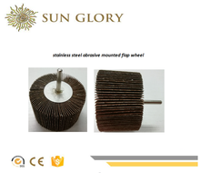Sun Glory stainless steel abrasive confined area and hard-to-reach surface mounted flap wheel
