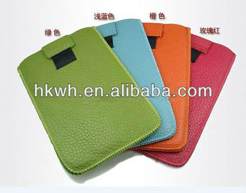 Fashionable leather laptop sleeve for ipad sleeve
