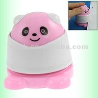 Pink white panda environmental friendly stapless staper paper binding