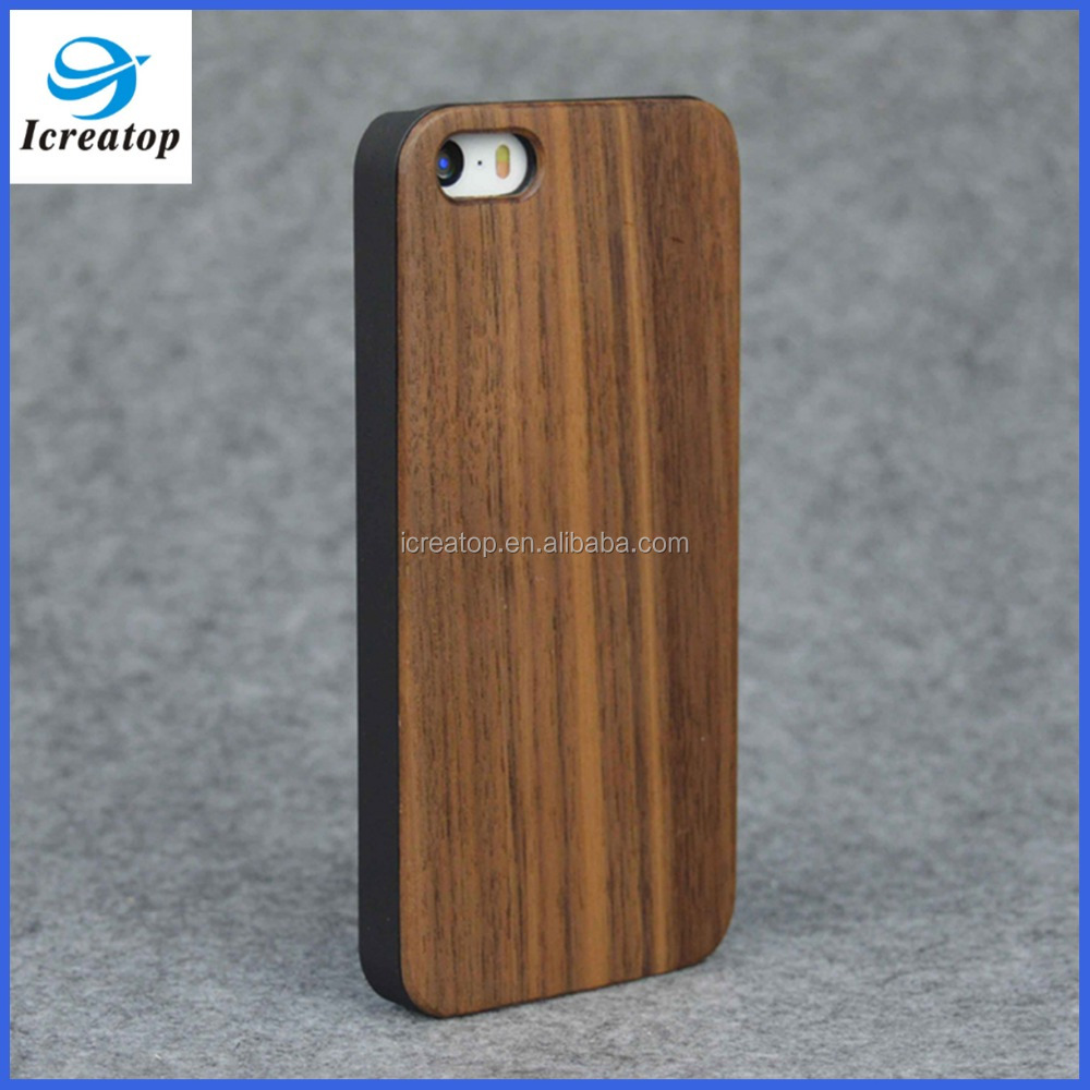 Wooden mobile phone shell new design, 5 inch mobile phone back cover for iPhone5
