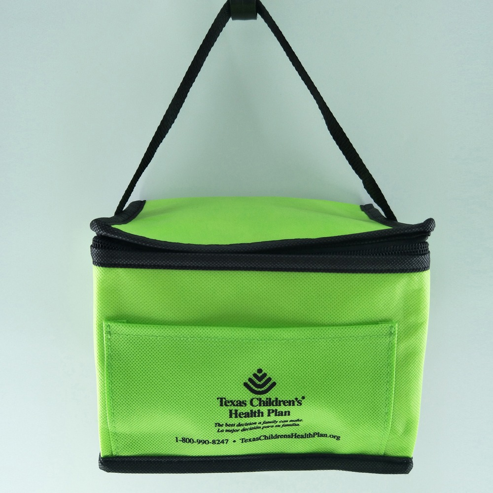 Promotional 6 can non woven recycled insulated beer cooler bottle bag