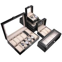 5 slots wooden watch box leaher pu watch case watch packing case