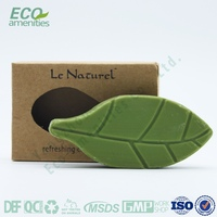 Leaf shape bath soap disposable papaya soap philippines for hotel decore