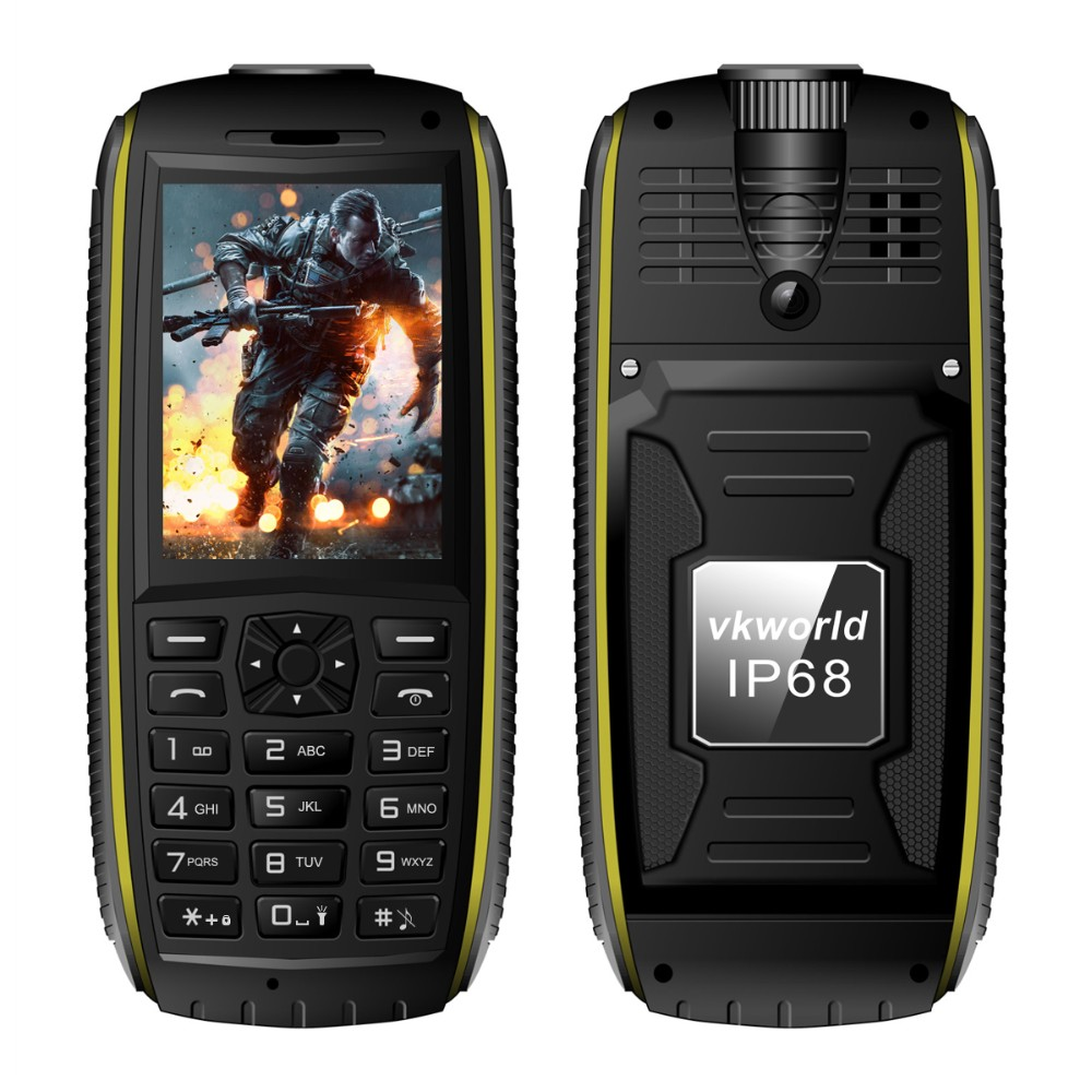 vkworld Stone V3 Max Rugged IP 68 Phone OTG 5300mAh Anti-Low Temperature Cheap Phone Big Horn Handphone 2G China Mobile Phone