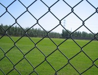 Highway 2.87MM Galvanised Black Chain Link Fencing Panels 50 x 50mm Hole