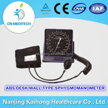 clock dial type ABS desk wall mount aneroid sphygmomanometer for clinic