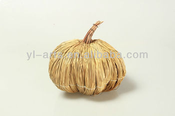 beautiful mat grass harvest festival pumpkin handmade crafts