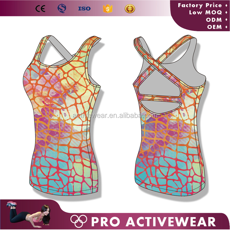 Latest Design Summer Sexy Women Sublimated Tank Tops Active Wear Wholesale