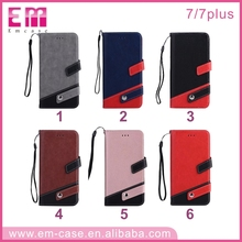 2017 Fashion elegant wallet design PU leather mobile phone case for iphone 6s with flip and stand function