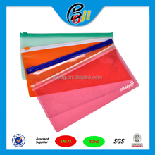 Hot selling customize printed top zip lock clear plastic PVC pencil bag