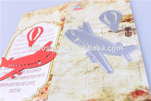 2016 fashion christmas alibaba china supplier craft die cutting airplane for Paper scrapbook