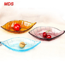 Creative colored durable glass dipping dish spice small plate dinnerware