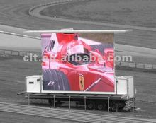 P20 full color video mobile trailer led display screen for advertising