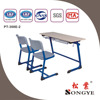 Double school desk and bench/school furniture/education furniture