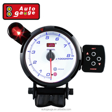 80 mm Electric Tachometer Motor RPM LED Display for diesel Auto Gauge w warning peak function meter