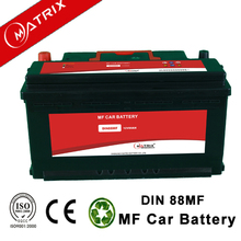 Export High quality 12V DIN88 88AH Sealed maintenance free lead acid car battery for cars and trucks