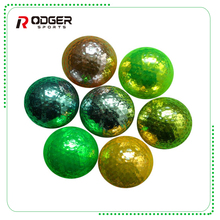 high quality logo golden plated golf ball oem wholesale