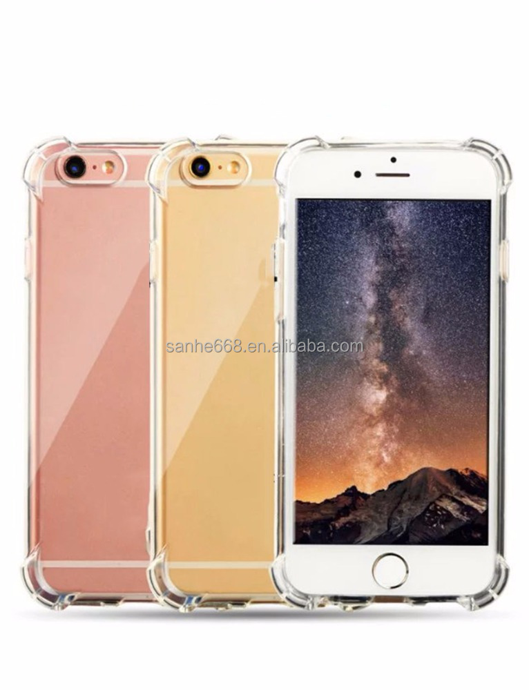 blank best quality 2017 cell phone accessories tpu material high protective clear case for iphone 5 for iphone 6s
