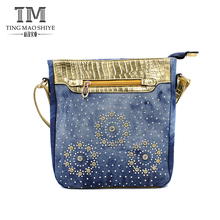 Supply cheap fashion style ladies bag denim shoulder bag