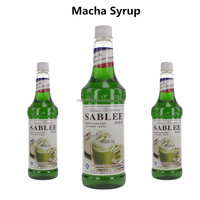 SABLEE French Macha Flavor Syrup Soft Drinks for beverage 900ml