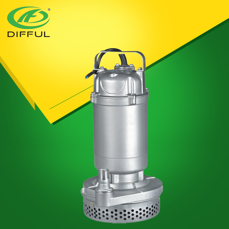 Stainless Steel Submerged Pump 1.5 HP Water Submersible Pump