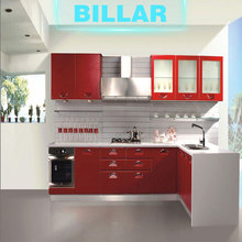 Guangzhou white simple fitted kitchen cabinet furniture