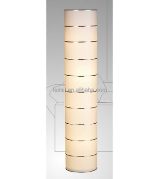 Newest Parchment shade modern floor lamp