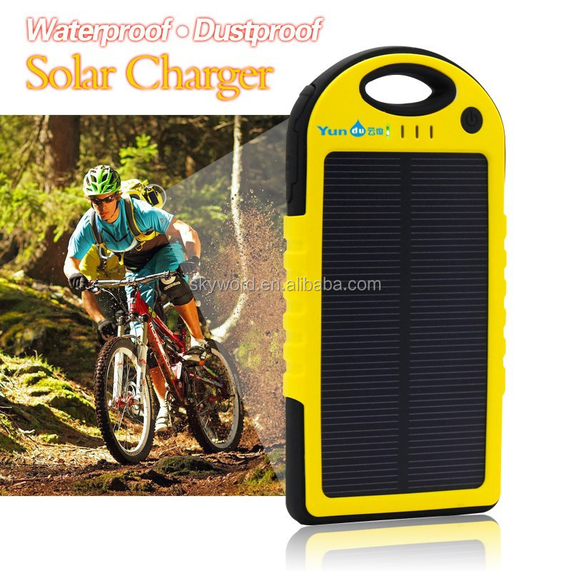 Portable solar cell phone charger circuit with retractable USB cable china market