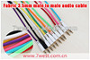 Colorful Braided Fabric 3.5 to 3.5 Male to Male Car Aux Audio Cable for iphone Headphone Mp3 Mp4