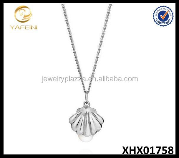 Wholesale 925 Sterling Silver Shell And Pearl Necklace