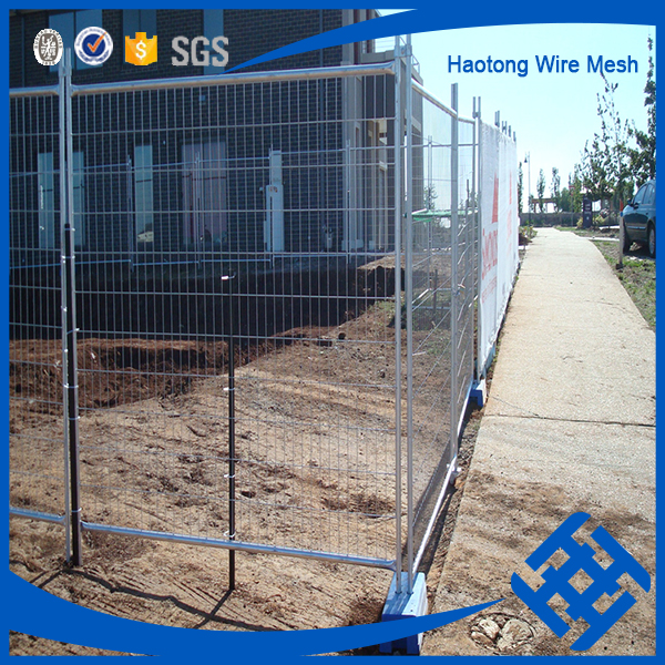 Construction Site AS4687-2007 Standard hot dipped galvanized welded panel removable temporary fence with concrete