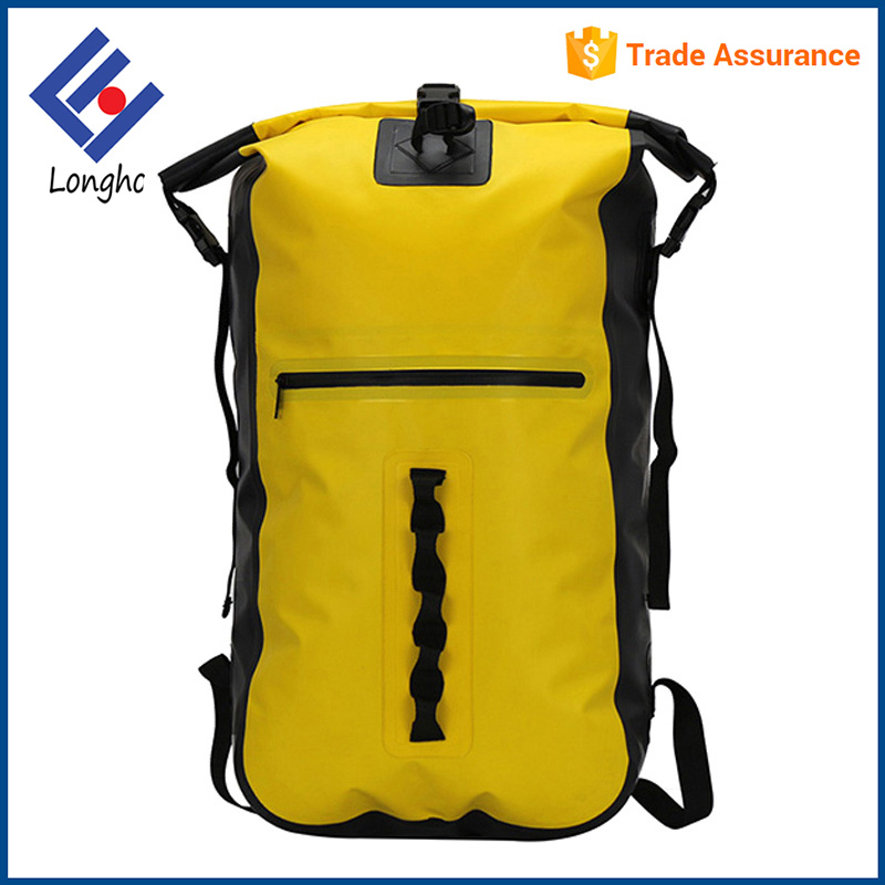 2017 new arrivals wide padded straps dry hiking bag roll top waterproof sport dry backpack