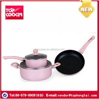 Pressing Aluminium Non-stick Flower Cookware Set