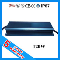 5 years warranty waterproof 120W 2300mA constant current LED driver 40-55V dc 2.3A