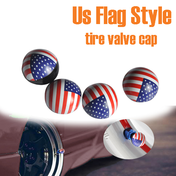 BYC American Flag Car Tire Valve Cap Guangzhou Auto Accessories Market