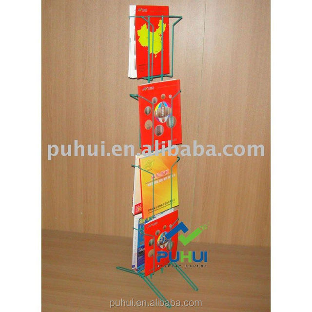 light duty floor standing metal wire brochure display rack for exposition