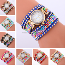 2017 diamond rhinestone women lady rivet cheap watches in bulk