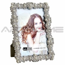 2017 women sex white shining square pearl picture frame photo frame