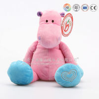 cartoon character hippo pink hippo plush toy