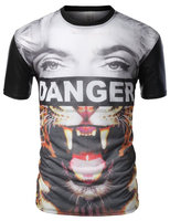 Sublimation China factory custom 3d men t-shirt printing