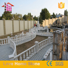 wholesale well polished beautiful limestone baluster railing for home balcony