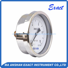 Back Connect Liquid Filled Screw Types Pressure Gauge
