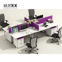 melamine office furniture metal frame office desk