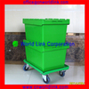 50kgs Security Moving & Storage Plastic Tote Box with Hinged Lid