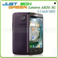 Low Cost Smart Mobile phone Lenovo A820 MTK 6589 Quad core Android 4.1.2 OS 4.5 inch IPS Screen 1GB 4GB Dual sim card.