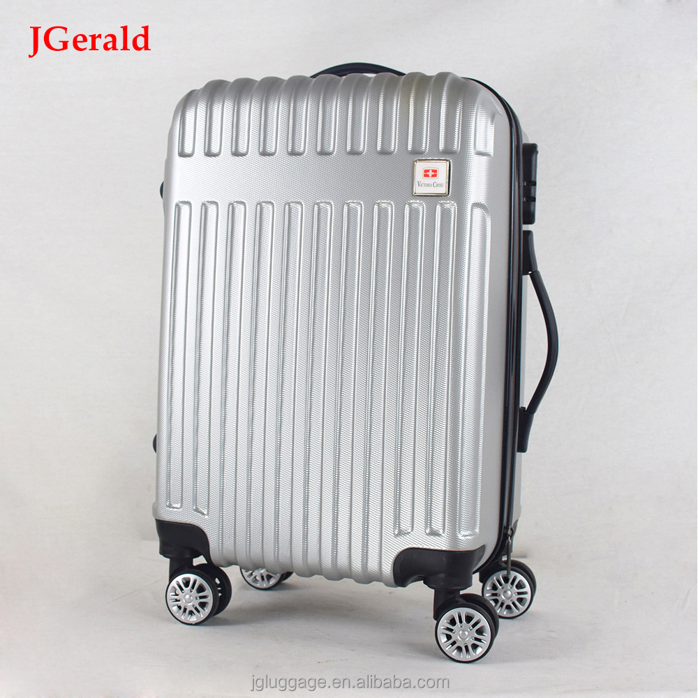 customized logo bag factory ABS trolley luggage , business luggage bag cases , suitcase set