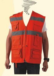 Tool Vest, with reflective tape work vest